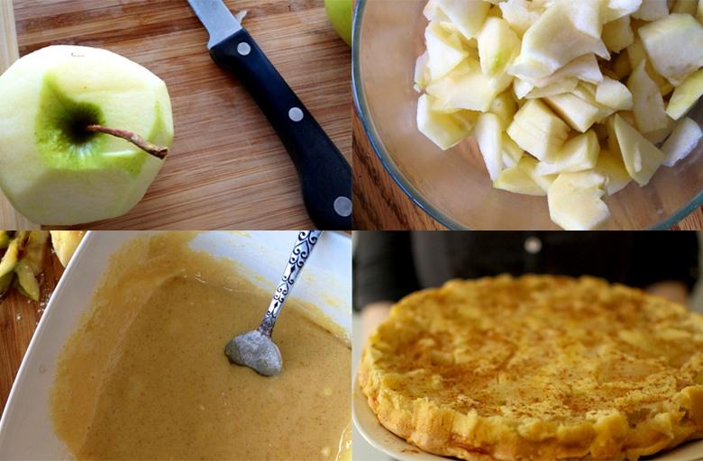 простой рецепт шарлотки с яблоками с фото