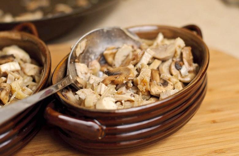 жульен с грибами и курицей рецепт фото