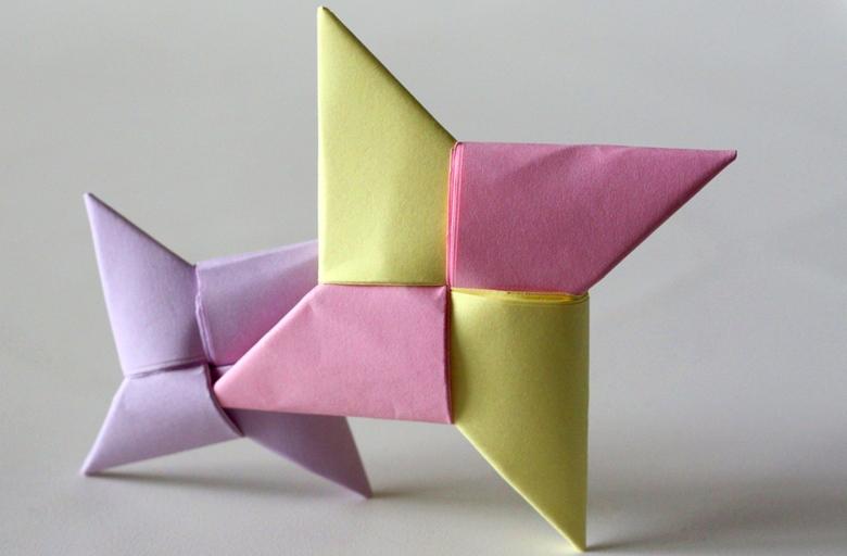 как сделать оригами сюрикен из бумаги