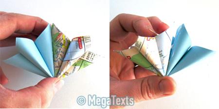 оригами кусудама схема сборки