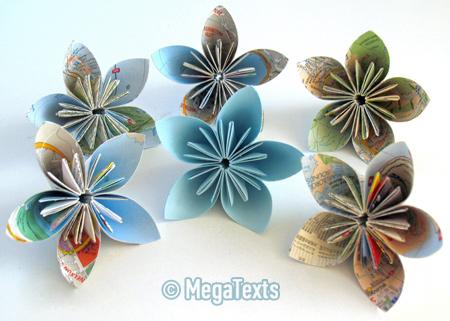 Склеиваем цветы кусудама